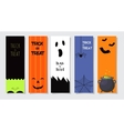 Set Of Happy Halloween Greeting Cards or Flyers vector image vector image