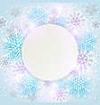 shining holiday background with snowflakes vector image vector image