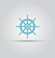 ship steering wheel isolated icon vector image