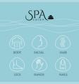 spa salon vector image