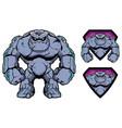 stone giant mascot vector image