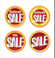 summer sale retro badge collection vector image