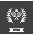 Tennis rackets with ball icon Sport symbol vector image vector image