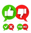 Thumb Up and Check Icons vector image