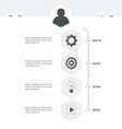 Timeline template black and white style vector image