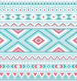 Tribal seamless pattern aztec blue background vector image