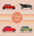 vintage car 01 vector image
