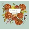 Vintage Greeting Card with Blooming Peonies vector image