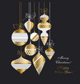 vintage style christmas baubles set vector image