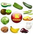 vitamin K vector image vector image