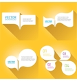 white cut paper speech bubbles on orange vector image vector image