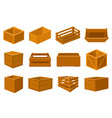 wooden boxes delivery containers empty wood vector image vector image