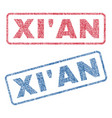 xi an textile stamps vector image